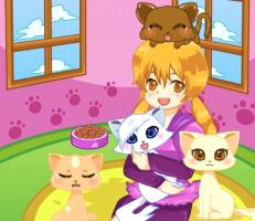 لعبة إنقاذ القطط المشردة