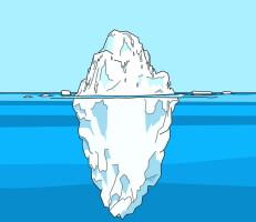 لعبة الجبل الجليدي