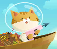 لعبة القط صياد السمك