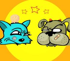 لعبة القط والكلب