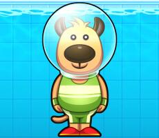 لعبة الكلب الغواص