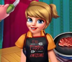 لعبة المطعم والزبائن