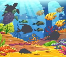 لعبة بازل الكائنات البحرية