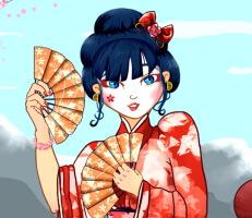 لعبة تلبيس البنت اليابانية