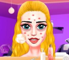لعبة تنظيف الوجه