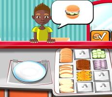 لعبة طبخ البرجر للزبائن