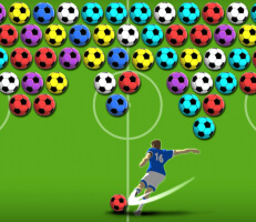 لعبة فقاعات كرة القدم