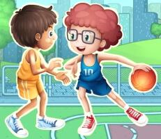 لعبة محترفي كرة السلة