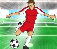 لعبة مهاجم كرة القدم